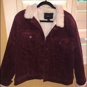 Forever 21 Corduroy Fuzzy Jacket